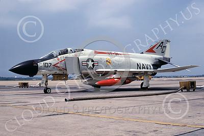 F-4USN 00435 McDonnell Douglas F-4J Phantom II US Navy 155580 VF-31 TOMCATTERS NAS Oceana 20 July 1968, military airplane picture, by Jack D Morris D