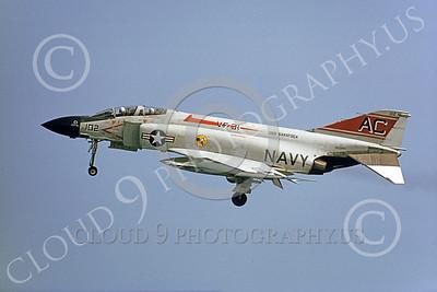F-4USN 00316 McDonnell Douglas F-4 Phantom II US Navy 157280 VF-31 TOMCATTERS USS Saratogoa 8-1973 by Michael Grove, Sr