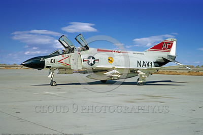 MiGK-F4II-USN 0001 A taxing McDonnell Douglas F-4J Phantom II USN jet fighter 157293 MiG Killer one kill VF-31 TOMCATTERS USS Saratoga NAS Fallon 10-1973 military airplane picture by Peter B Lewis       DONEwt copy