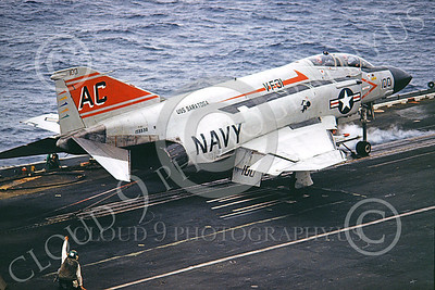 F-4USN 00362 McDonnell Douglas F-4J Phantom II US Navy 155530 VF-31 TOMCATTERS Commanding Officer's airplane USS Saratoga Jan 1980, by Pete Clayton