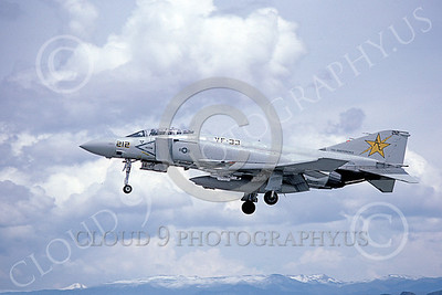 F-4USN 00226 A landing McDonnell Douglas F-4 Phantom II US Navy VF-33 TARSIERS USS Independence NAS Fallon May 1980 military airplane picture by Michael Grove, Sr