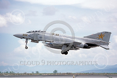 F-4USN 00660 A landing McDonnell Douglas F-4 Phantom II US Navy VF-33 TARSIERS USS Independence NAS Fallon May 1980 military airplane picture by Michael Grove, Sr