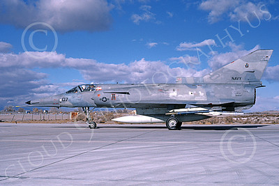 F-21-USN 00007 A taxing Israeli Aircraft F-21 Kfir jet fighter USN 999747 VF-43 CHALLENGERS NAS Fallon 11-1986 military airplane picture by Michael Grove, Sr