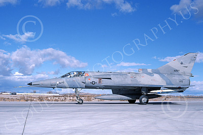 F-21-USN 00013 A taxing Israeli Aircraft F-21 Kfir jet fighter USN 999786 VF-43 CHALLENGERS NAS Fallon 11-1985 military airplane picture by Michael Grove, Sr