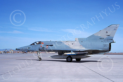 F-21-USN 00017 A taxing Israeli Aircraft F-21 Kfir jet fighter USN 999747 VF-43 CHALLENGERS NAS Fallon 3-1988 military airplane picture by Michael Grove, Sr