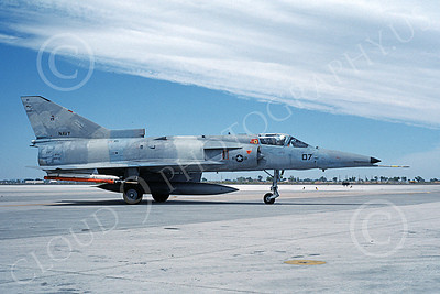 F-21-USN 00023 A taxing Israeli Aircraft F-21 Kfir jet fighter USN 999747 VF-43 CHALLENGERS NAS Fallon 6-1987 military airplane picture by Michael Grove, Sr