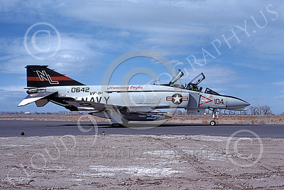 F-4USN 00034 A taxing McDonnell Douglas F-4 Phantom II US Navy 0642 VF-51 SCREAMING EAGLES NL NAS Fallon May 1976 military airplane picture by Michael Grove, Sr