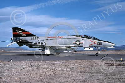 F-4USN 00206 A taxing McDonnell Douglas F-4 Phantom II US Navy 2226 VF-51 SCREAMING EAGLES NL NAS Fallon May 1976 military airplane picture by Michael Grove, Sr