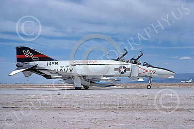 F-4USN 00533 A taxing McDonnell Douglas F-4 Phantom II US Navy 1459 VF-51 SCREAMING EAGLES NL with bombs NAS Fallon May 1976 military airplane picture by Michael Grove, Sr