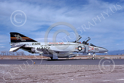 COP 00031 A taxing McDonnell Douglas F-4N USN 152326 VF-51 SCREAMING EAGLES NAS Fallon 6-1982 military airplane picture by Michael Grove, Sr