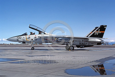F-14USN 00687 A static USN F-14 Tomcat jet fighter 160655 VF-51 SCREAMING EAGLES NAS Fallon 10-1992, by Michael Grove, Sr