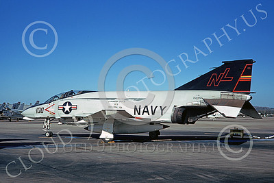 F-4USN 00571 A static McDonnell Douglas F-4B Phantom II US Navy 150456 VF-51 SCREAMING EAGLES CAG USS Coral Sea NAS Miramar March 1973 military airplane picture by Doug Olson