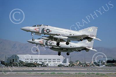 F-4USN 00335 McDonnell Douglas F-4J Phantom II US Navy VF-74 BEDEVILERS USS Forrestal Nellis AFB July 1987, by Michael Grove, Sr