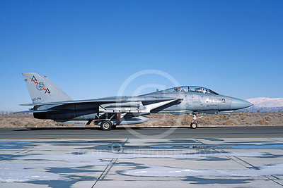 F-14USN 00851 A taxing Grumman F-14 Tomcat USN VF-74 BEDEVILERS USS Saratoga with missile NAS Fallon 2-1985, by Michael Grove, Sr