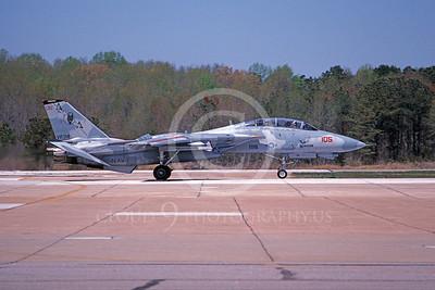 F-14USN 00827 A taxing Grumman F-14 Tomcat USN 163221 VF-74 BEDEVILERS NAS Oceana 6-1994, by Gary Wilson