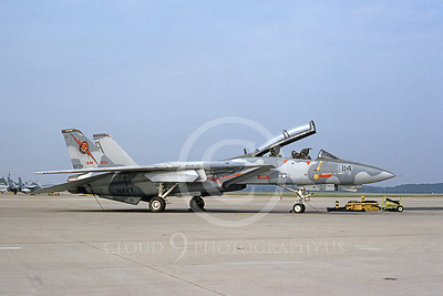 F-14USN 00847 A static Grumman F-14 Tomcat USN 161432 combinded VF-74 BEDEVILERS and VF-101 GRIM REAPERS markings NAS Oceana 9-1994, by Brian C Rogers