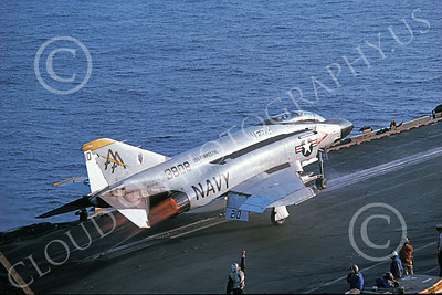F-4USN 00340 McDonnell Douglas F-4J Phantom II US Navy 153808 VF-74 BEDEVILERS USS Forrestal Aug 1975 by Clay Jansson