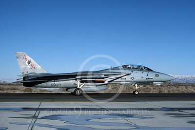 F-14USN 00833 A taxing Grumman F-14 Tomcat USN 160896 VF-74 BEDEVILERS USS Saratoga NAS Fallon 2-1985, by Michael Grove, Sr