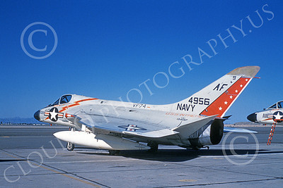 F4D-1USN 00001 A static Douglas F4D-1 Skyray USN 134956 VF-74 BEDEVILERS USS Intrepid MCAS Yuma 12-1959 military airplane picture by William L Swisher