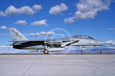 F-14USN 00831 A taxing Grumman F-14 Tomcat USN VF-74 BEDEVILERS USS Saratoga NAS Fallon 11-1986, by Michael Grove, Sr