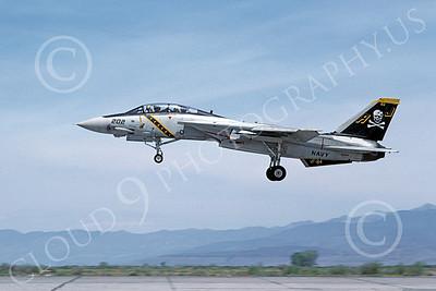 F-14USN 00872 A landing Grumman F-14 Tomcat USN 160389 VF-84 JOLLY ROGERS USS Nimitz NAS Fallon 5-1984, by Michael Grove, Sr