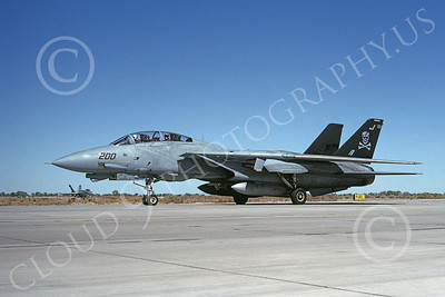 F-14USN 00887 A taxing Grumman F-14 Tomcat USN 162688 VF-84 JOLLY ROGERS NAS Fallon 10-1992, by Michael Grove, Sr