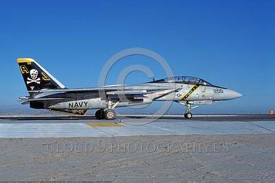 F-14USN 00883 A taxing Grumman F-14 Tomcat USN 160386 VF-84 JOLLY ROGERS USS Nimitz NAS Fallon 1-1981, by Michael Grove, Sr