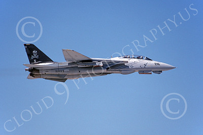 F-14USN 00886 A flying Grumman F-14 Tomcat USN 161868 VF-84 JOLLY ROGERS 6-1994, by Michael Grove, Sr  D