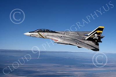 F-14USN 00864 Grumman F-14 Tomcats USN VF-84 JOLLY ROGERS 1-1981, by Robert L Lawson