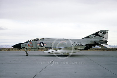 F-4USN 00527 A taxing McDonnell Douglas F-4J Phantom II US Navy 155800 VF-96 WORLD FAMOUS FIGHTING FALCONS commanding officer's USS America NG NAS Fallon 3-1970 by Doug Olson
