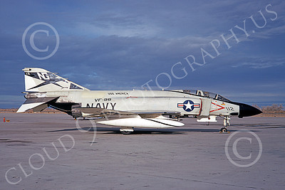 F-4USN 00773 A static McDonnell Douglas F-4J Phantom II US Navy 153806 VF-96 FIGHTING FALCONS USS America NAS Fallon 3-1970 military airplane picture by Doug Olson