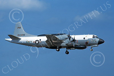 EP-3USN 00064 A landing Lockheed EP-3E Aries II USN 150498 VQ-1 WORLD WATCHERS PR code 3-1979 military airplane picture by Michael Grove, Sr