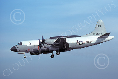 EP-3USN 00060 A landing Lockheed EP-3E Aries II USN 149678 VQ-1 WORLD WATCHERS PR code 2-1977 military airplane picture by Michael Grove, Sr