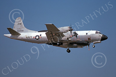 EP-3USN 00066 A landing Lockheed EP-3E Aries II USN 150498 VQ-1 WORLD WATCHERS PR code 6-1977 military airplane picture by Michael Grove, Sr
