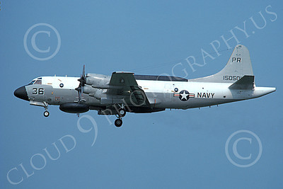 EP-3USN 00050 A landing Lockheed EP-3 Aries II USN 150501 VQ-1 WORLD WATCHERS 6-1981 military airplane picture by Hideki Nagakubo