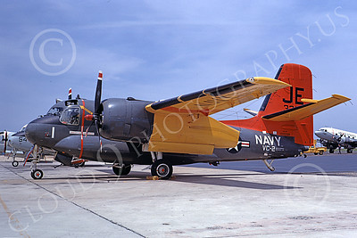 S-2USN 00017 A static Grumman US-2C Tracker USN 133339 VC-2 BLUE FALCONS 7-1968 military airplane picture by Clay Jansson