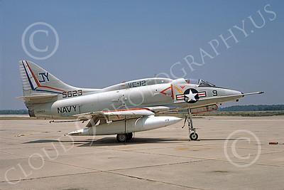 A-4USN 00130 A USN Douglas A-4L Skyhawk attack jet, 149623, VC-12 OMARS, Cecil Field 12-1974, airplane picture, by Michael Grove, Sr