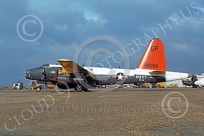 P-2USN 00141 A static Lockheed P-2E Neptune USN 128395 VC-8 REDTAILS 5-1976 military airplane picture by D J Fisher
