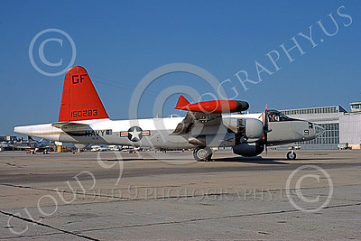 P-2USN 00136 A static Lockheed P-2 Neptune USN 150283 VC-8 REDTAILS 5-1977 military airplane picture by L B Sides