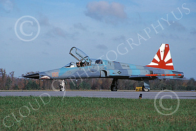 F-5USN 00035 A taxing USN Northrop F-5B Freedom Fighter VFC-111 SUNDOWNERS 2-2009, by David F Brown
