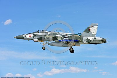 F-18A-USN-VFC-12 0006 A landing McDonnell Douglas F-18A USN 162867 VFC-12 FIGHTING OMARS adversart jet fighter in artic splinter livery 4-2016 military airplane picture by Peter J  Mancus