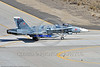 F-18A-USN-VFC-12 0019 A taxing McDonnell Douglas F-18A Hornet USN jet fighter 163113 VFC-12 FIGHTING OMARS at NAS Fallon 3-2017 military airplane picture by Peter J Mancus     DONEwt