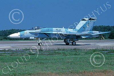 Boeing F-18C-USN 00217 A taxing Boeing F-18C Hornet USN 162436 VFC-12 OMARS NAS Oceana 8-2003 military airplane picture by Chris Post