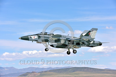 F-18A-USN-VFC-12 0016 A McDonnell Douglas F-18A USN 162863 VFC-12 FIGHTING OMARS adversart jet fighter in artic splinter livery lands at NAS Fallon 4-2016 military airplane picture by Peter J  Mancus
