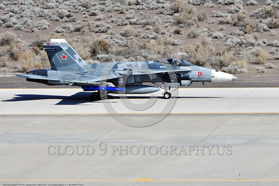 F-18A-USN-VFC-12 0011 A taxing McDonnell Douglas F-18A Hornet USN jet fighter 163113 VFC-12 FIGHTING OMARS at NAS Fallon 3-2017 military airplane picture by Peter J Mancus     DONEwt