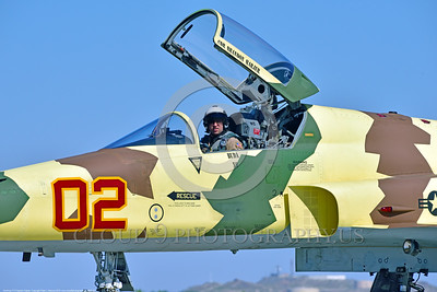 ACM 00038 Portrait of a USN VFC-13 SAINTS Northrop F-5E Freedom Fighter adversary fighter pilot at NAS Fallon 4-2016 military airplane picture by Peter J  Mancus