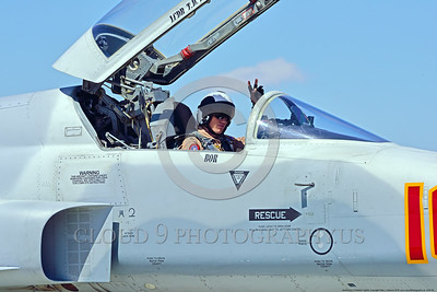 ACM 00048 Portrait of a friendly USN VFC-13 SAINTS Northrop F-5E Freedom Fighter adversary fighter pilot at NAS Fallon 4-2016 military airplane picture by Peter J  Mancus