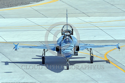 "F-5USN-VFC-13 0007 A Northrop F-5E Freedom Fighter USN jet fighter VFC-13 ""SAINTS"" taxis at NAS Fallon 3-2017 military airplane picture by Peter J Mancus     DONEwt"