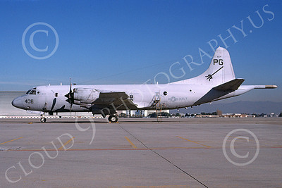 P-3USN 00233 A static Lockheed P-3 Orion USN VP-65 TRIDENTS NAS Moffett 12-1997 military airplane picture by Tom Chee