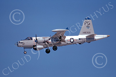 P-2USN 00044 A landing Lockheed P-2J Neptune USN 148359 VP-65 TRIDENTS 5-1974 military airplane picture by Michael Grove, Sr